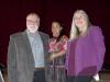Board Members Max Kintner, Mary Pliska with Scholarship Recipient Antoinetta