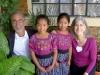 MayaCREW Board Members Raymond and Lynn Waespi with Young Scholarship Recipients